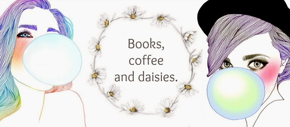 Books, coffee and daisies.