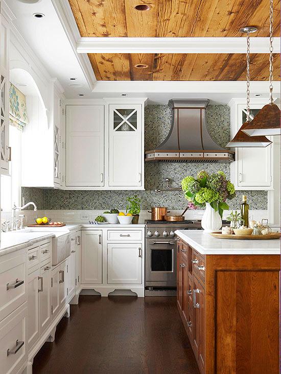 Decoraci n f cil una confortable cocina rustica - Cocinas rusticas en blanco ...