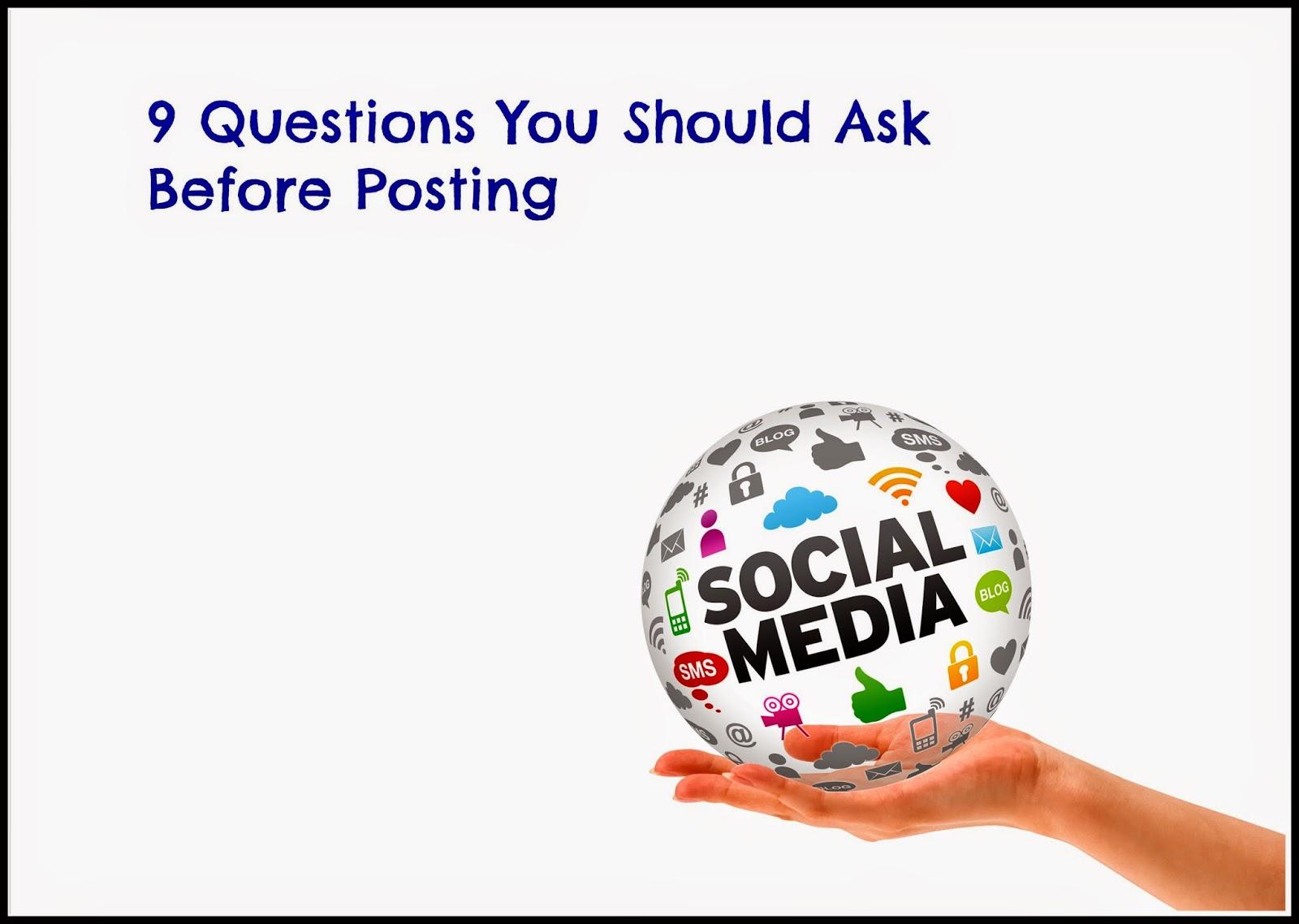posting in social media