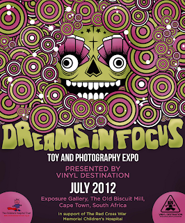"Vinyl Destination presents ""Dreams in Focus - a Vinyl Toy & Photography Expo"" Flyer by Brent Black"