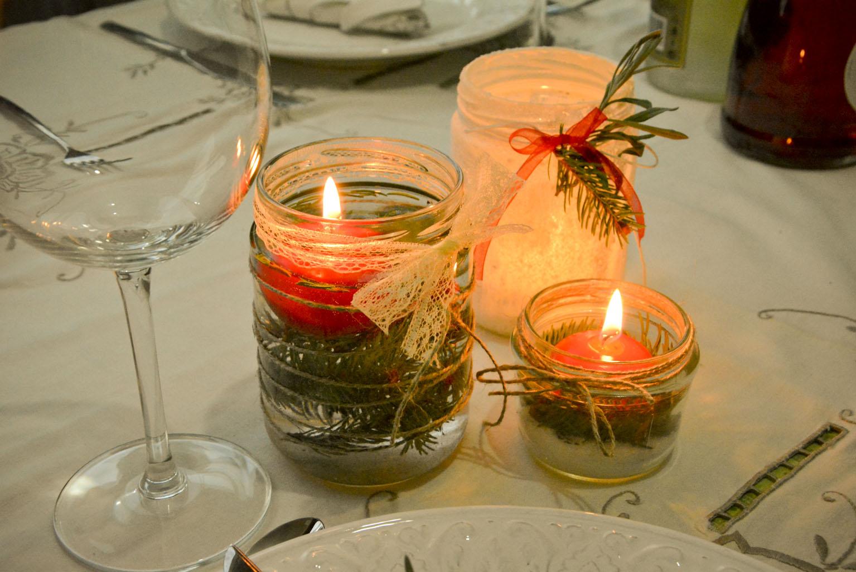 tarros de cristal decorados para navidad