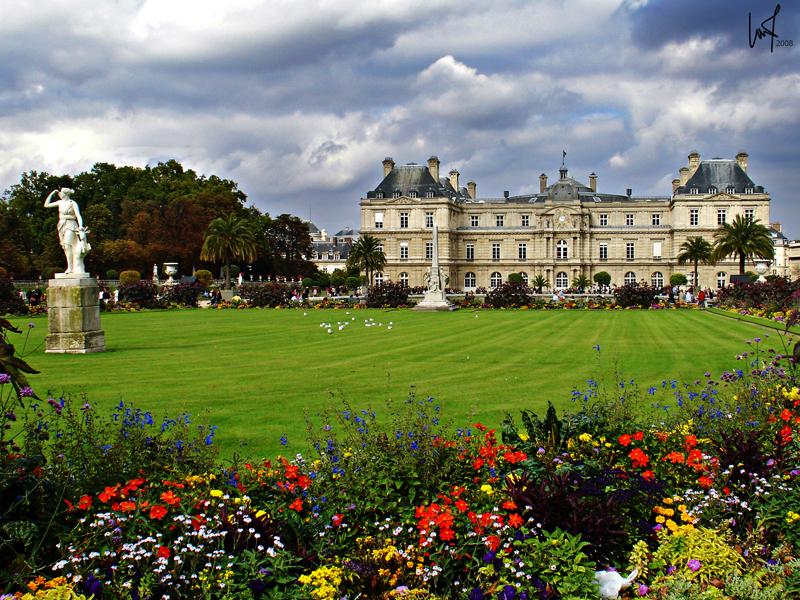 palacio y jardines de luxemburgo paris la foca monje