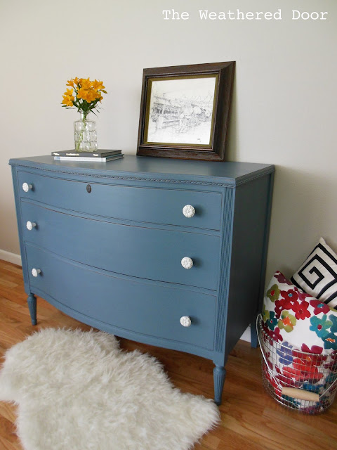 Smoky Blue Dresser from The Weathered Door