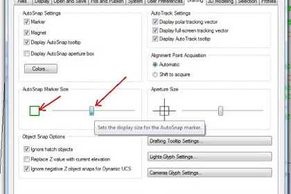 Auto Snap  Marker Size AutoCAD 2012