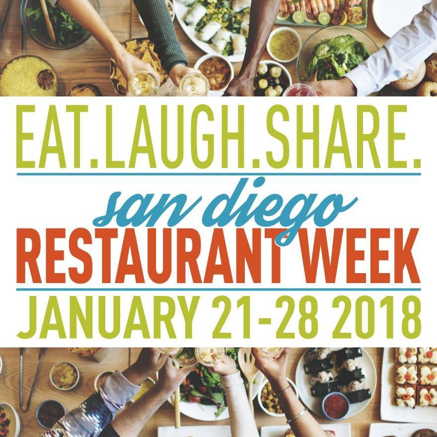 Don't Miss San Diego Restaurant Week 2018 - January 21-28!