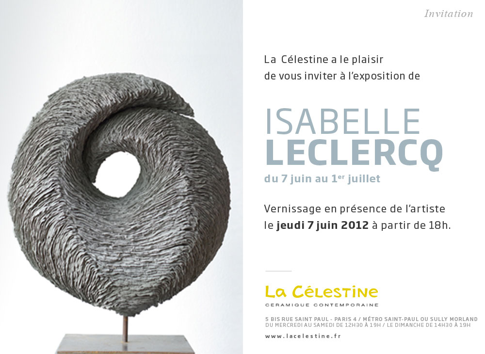 passion ceramique isabelle leclercq galerie la c lestine. Black Bedroom Furniture Sets. Home Design Ideas