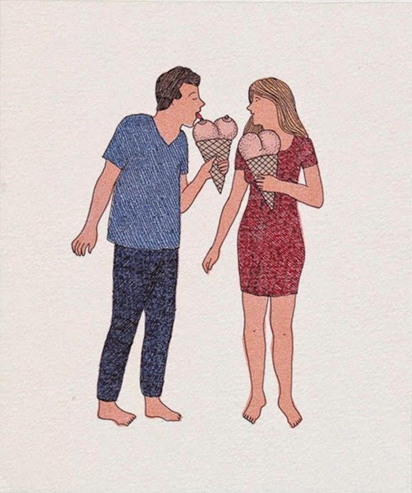 Marion Fayolle'nin erotik illüstrasyonları