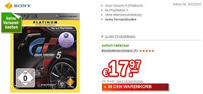 Gran Turismo 5 Platinum für 17,97 Euro bei redcoon