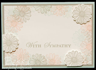 Best of Flowers Sympathy Card by UK based Stampin' Up! Demonstrator Bekka Prideaux - love the soft look of these colours together