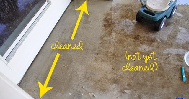 Diy miracle concrete patio cleaner diy craft projects for Homemade cleaning solution for concrete