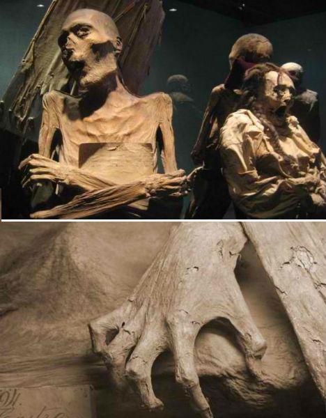 Múmias de Guanajuato, encontradas no México.