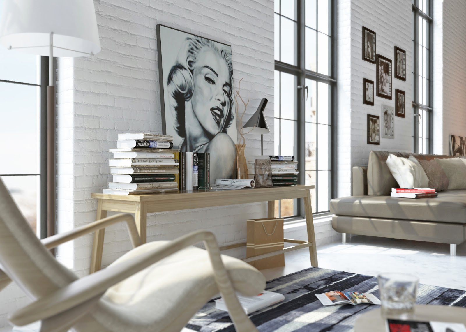 Inspired by chicago loft scene s bertrand benoit by acuzzi with 3dsmax vray photoshop