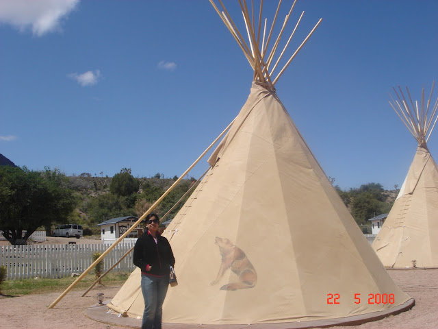 Red Indian Tent,tipis at grand Canyon,USA
