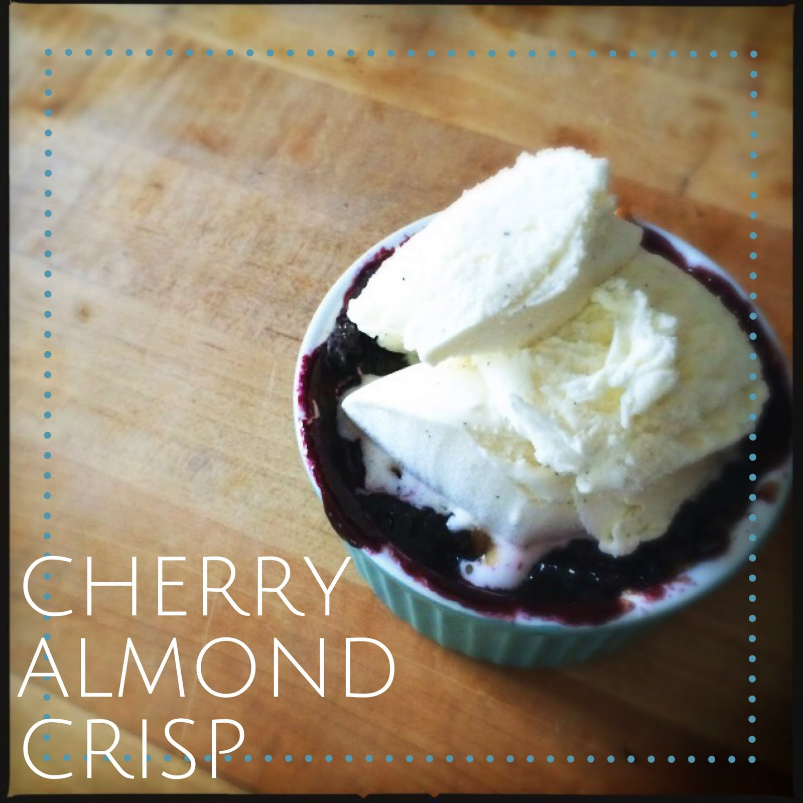 Cherry almond crisp, so good! The Graffitied Gardenia