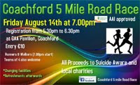 5m race in Coachford, W of Cork City...Fri 14th Aug 2015