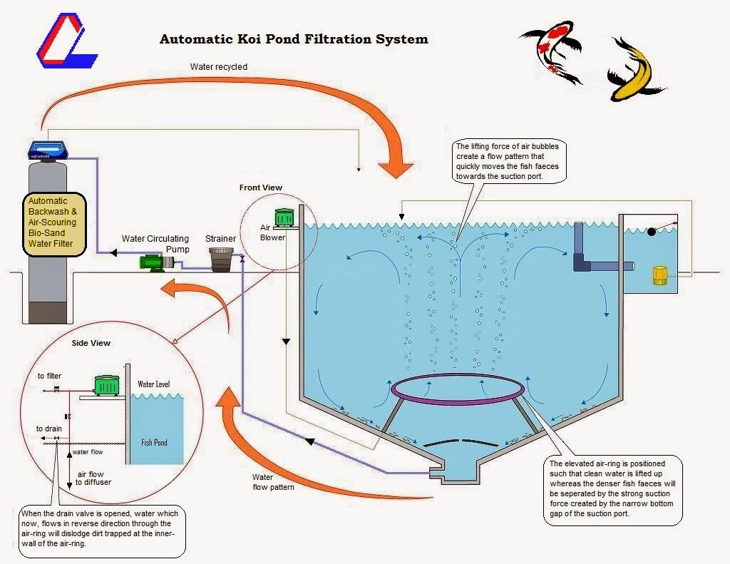 Crosslink aquatic sdn bhd pond filtration design for Pond filtration design