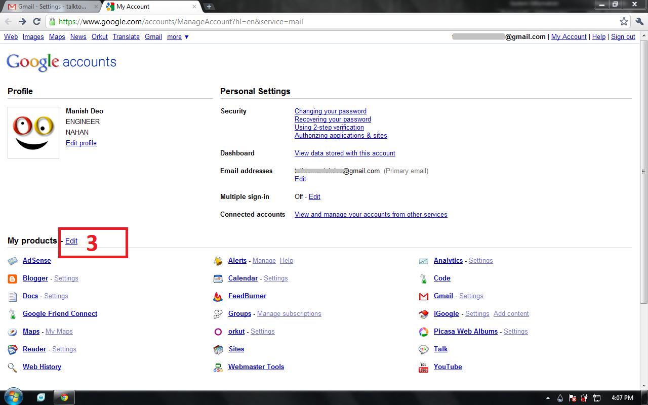Delete or Deactivate Google Application | Dmeaon