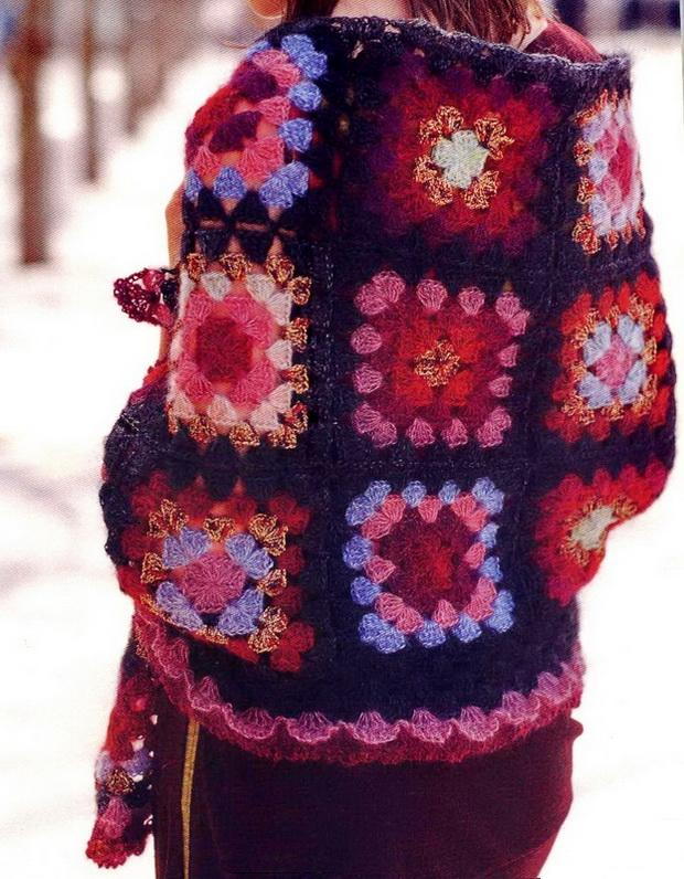 crochet shawl and scarf wrap