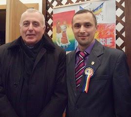 Alături de Prof. univ. dr. Gheorghe Cliveti la conferinţa regională, 29.11.2013...