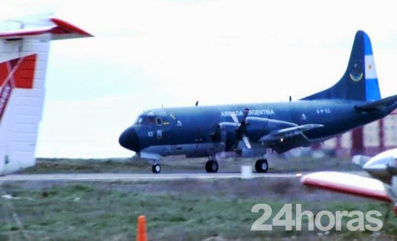 """www.24horas.com.ar:  """"Avión de la Armada aterrizó de emergencia en el Aeropuerto de Río Grande"""""""