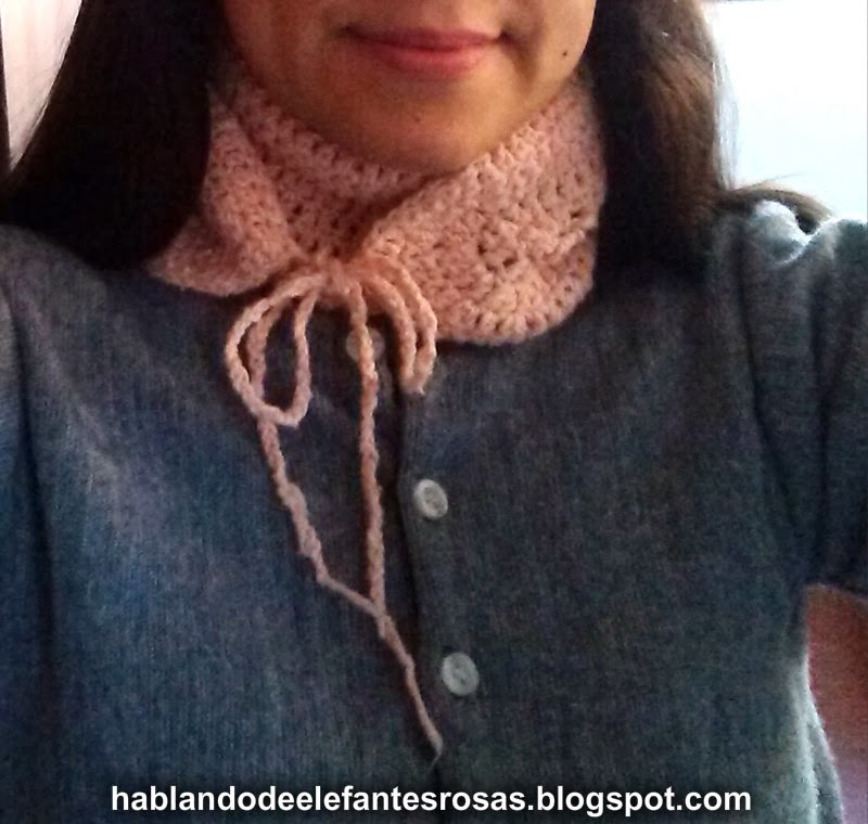 bufanda moño crochet