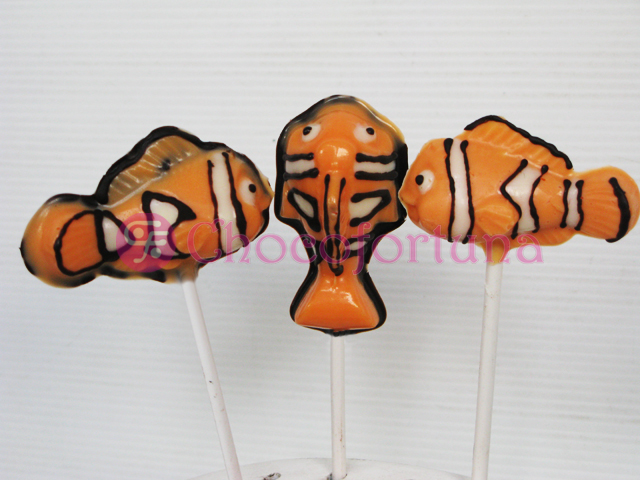 Cokelat coklat lolipop ikan clownfish hewan binatang disney pixar Finding Nemo