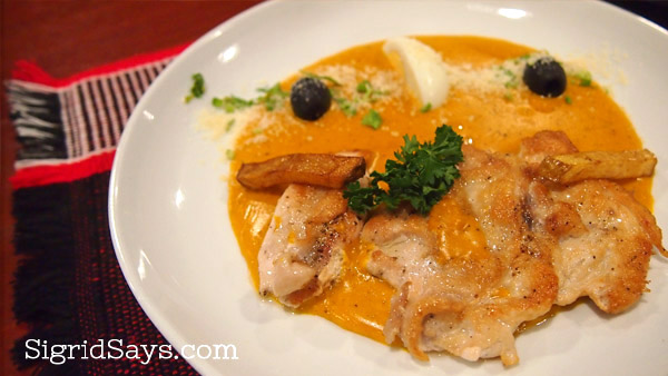 Peruvian chicken dish at Chifa Comida Latino