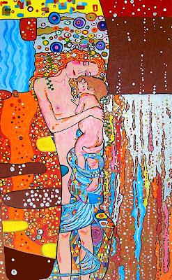 Versió de 'Les tres edats de la dona', de Gustav Klimt, per a Vanessa