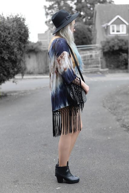 Sammi Jackson - ft Luxemme Coords, Zaful Kimono & Modekungen Studded Bag