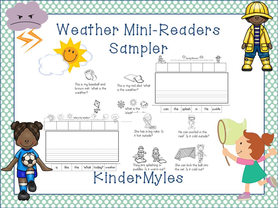 http://www.teacherspayteachers.com/Product/Weather-Mini-Readers-and-Writing-1143042