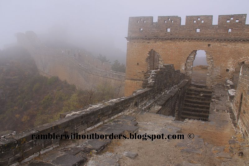 Jinshanling Great Wall shrouded in mist, Beijing, China