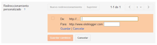 Redirección Blogger