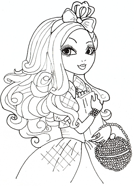Black And White Coloring Page Doll