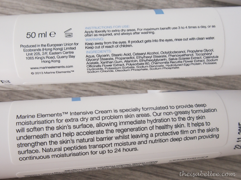 Marine Elements Intensive Cream description