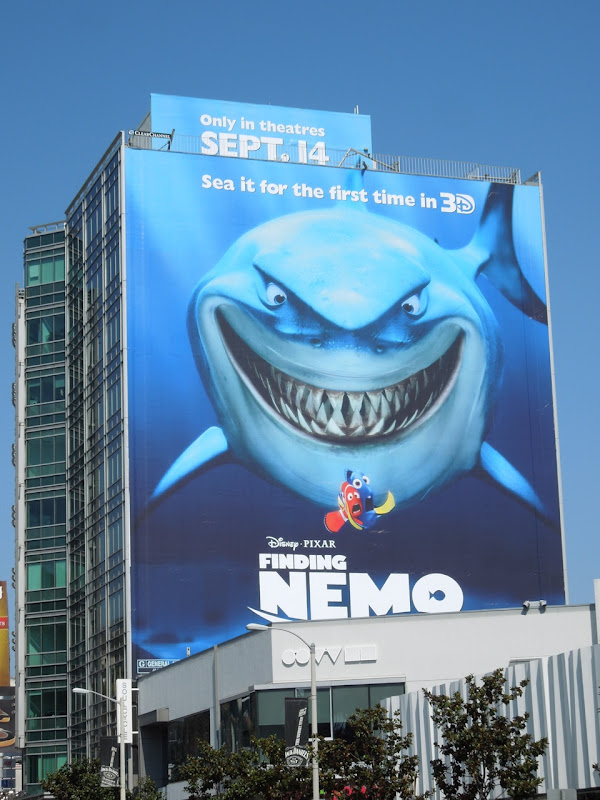 Finding Nemo 3D movie billboard