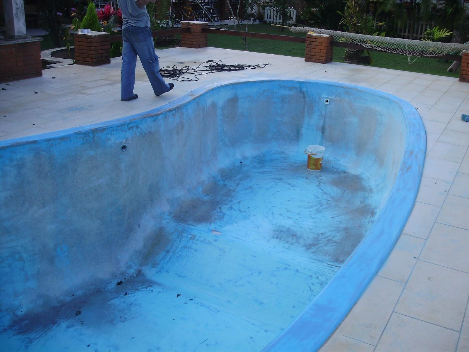 Cooper fibra com rcio de fibra ltda pintura de piscina em - Pintura de piscina ...