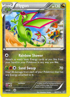 Flygon Furious Fists Pokemon Card