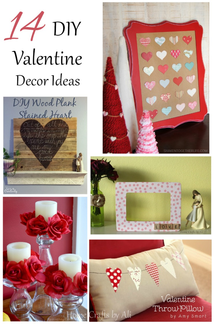 14 diy valentine decor ideas home crafts by ali. Black Bedroom Furniture Sets. Home Design Ideas