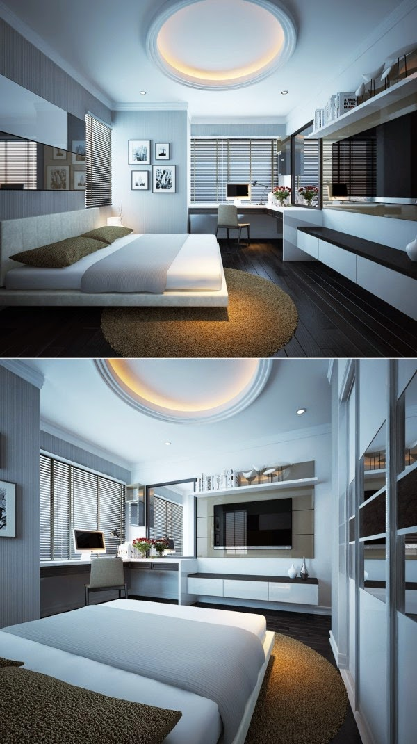 Hogares frescos 20 modernos dise os de dormitorios para for Disenos de cuartos modernos