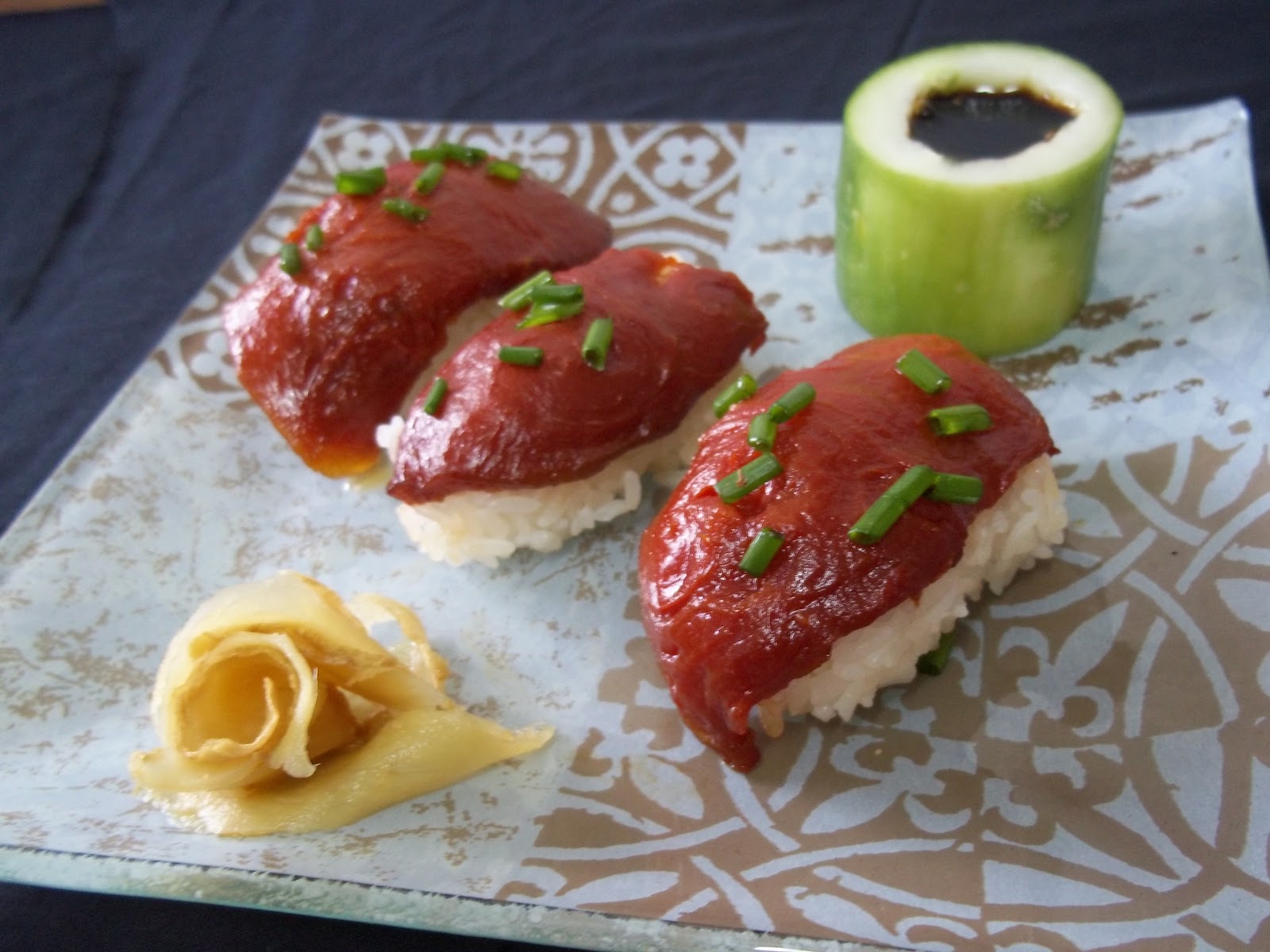 Baked watermelon steak recipe and method raw fish sashimi for Best fish for sushi