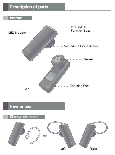 what 39 s on first lg hbm 235 bluetooth headset manual in html. Black Bedroom Furniture Sets. Home Design Ideas