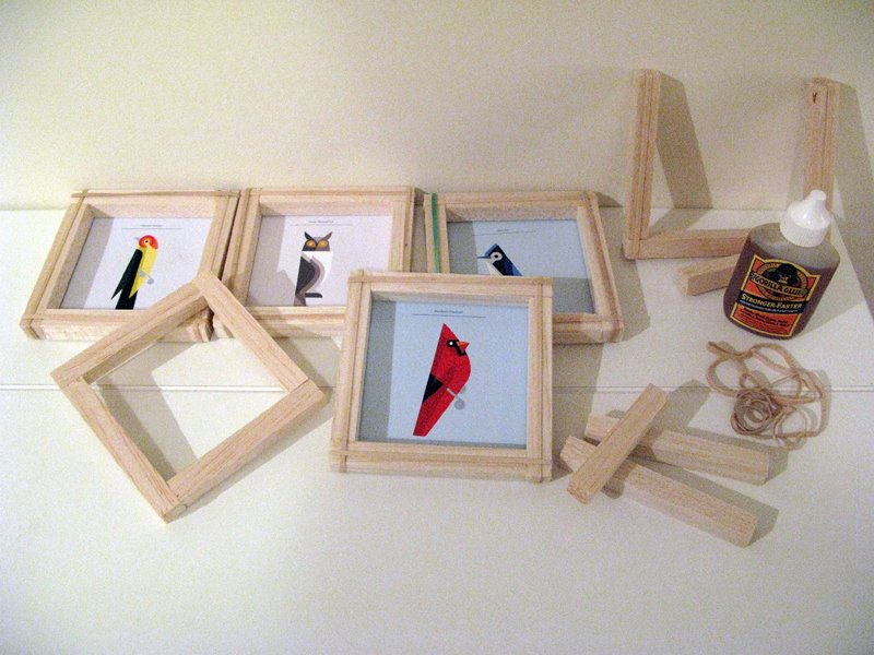 balsa wood is so light and easy to cut this is a great starter kit for a home framing kit - Diy Picture Framing