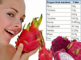 Kandungan Nutrisi Buah Naga Dragon Fruit