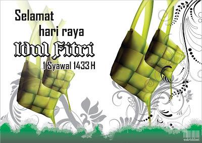 kartu Ucapan Lebaran Idul Fitri 1433