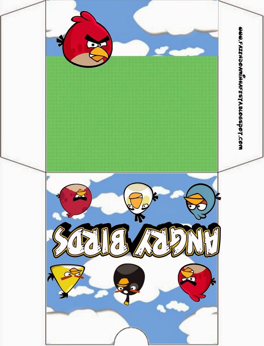 Etiqueta para poner el CD de Angry Birds con Nubes.