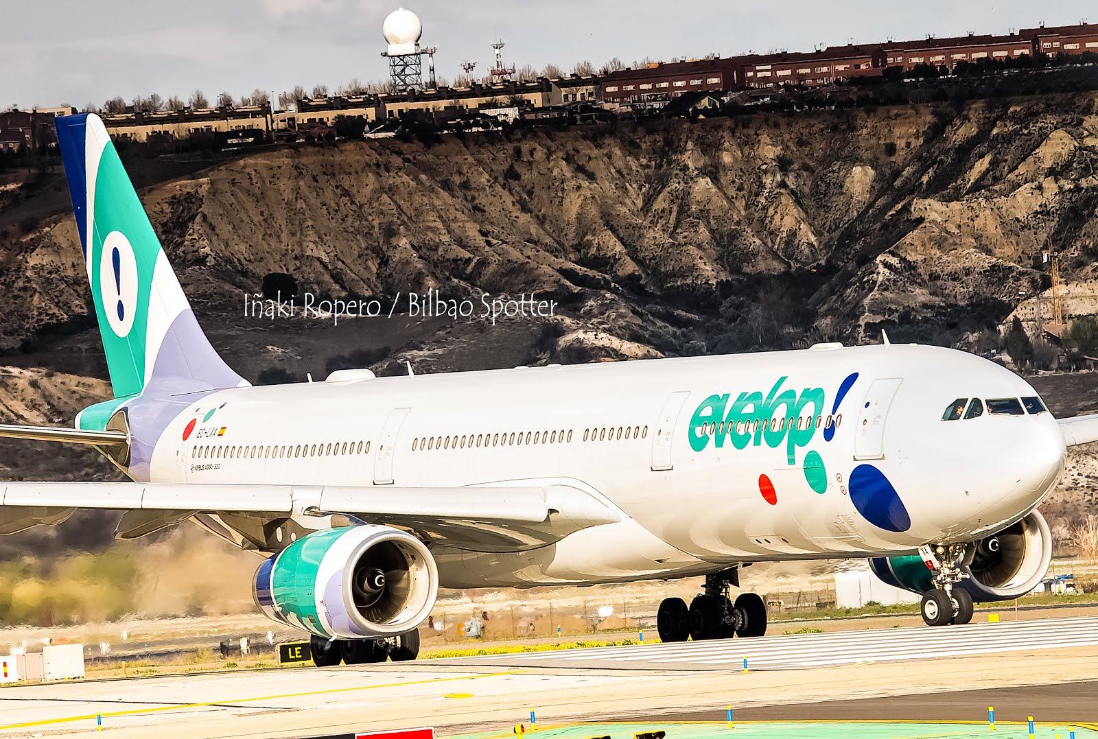 Llega a España el primer Airbus A350 de Evelop! Enhorabuena !!