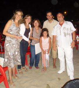 Aquí con Sixta, María de Gea, Luisa Gómez, Antonio y su hija