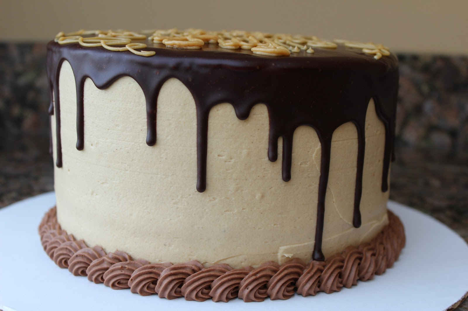 Cake With Chocolate Dripping : Hanna s Desserts: chocolate peanut butter ganache cake