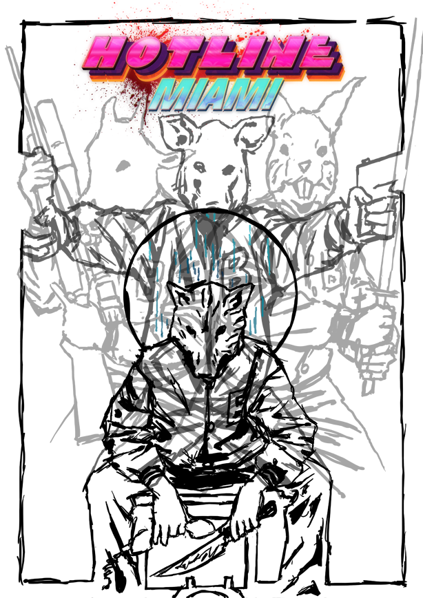 hotline miami fan art