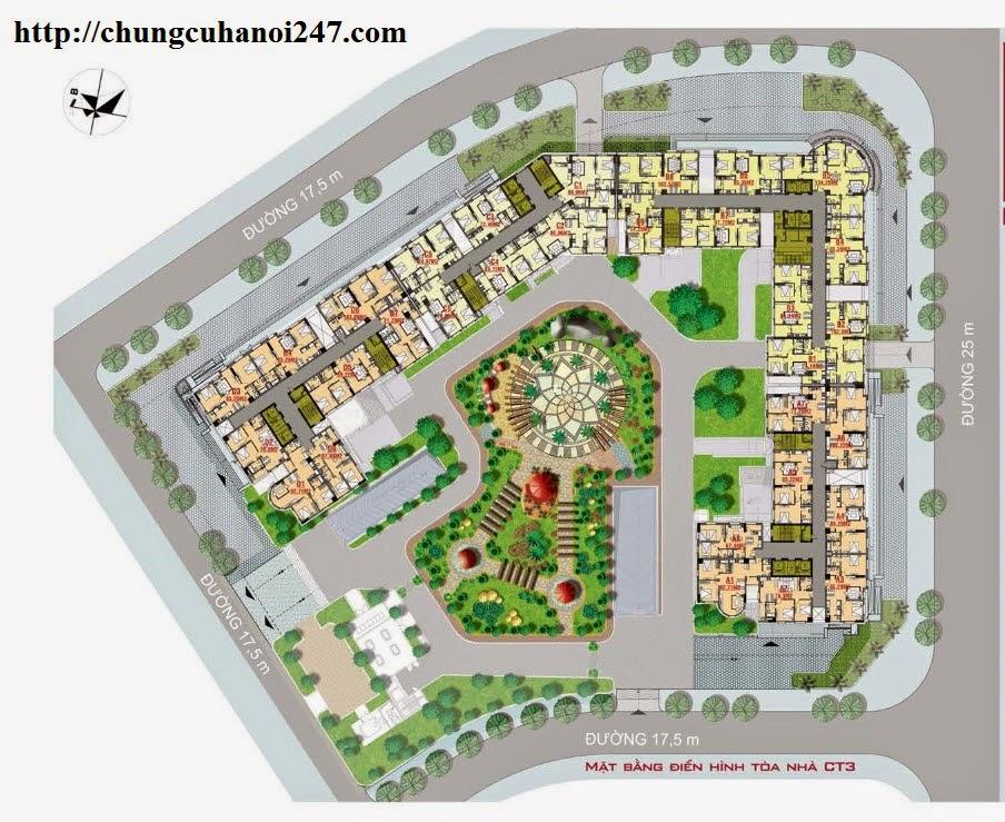 Phối cảnh tổng thể dự án chung cư CT3 Cổ Nhuế - Hoàng Quốc Việt Residentials